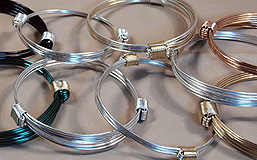Elephant hair knot bracelets in precious metals