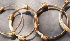Gold elephant hair knot bracelets