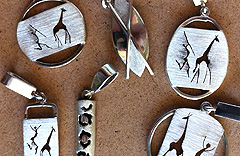 Sterling silver african pendants hand made