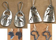 Safari Africa silver earrings