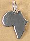 AF8004 Shiny Africa charm Sml