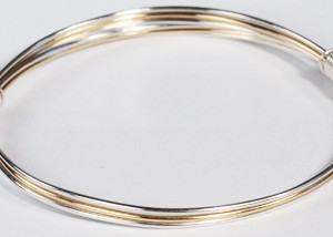 Fine silver and gold bracelet or bangle