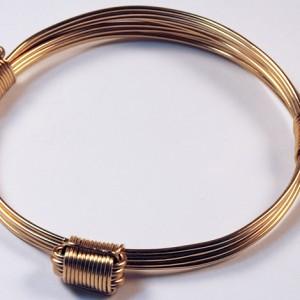 3 knot 5 strand gold bracelet