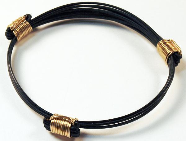 Elephant Hair Bracelet With Gold For Men Elephant Hair Bracelet With 3