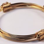 4 knot gold elephant hair bracelets