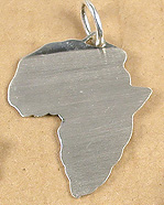 Africa outline shape pendant