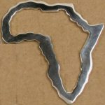 Large Silver Africa Outline with no bale