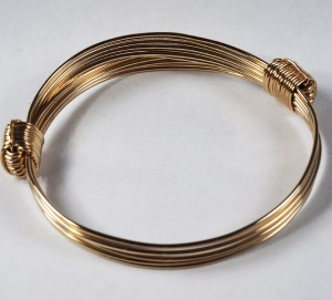 Extra wide gold elephant hair knot bracelet