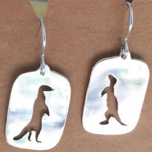 Shiny meercat earrings