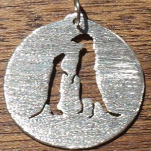 Meerkat 2303 circle matte pendant
