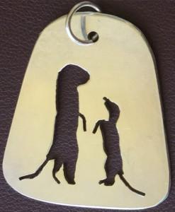 Meerkat pendant in silver