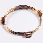 Solid gold 3 knot bracelet