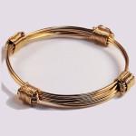 Solid 14KY gold 4 knot bracelet