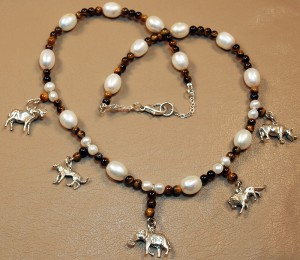 Africa big 5 charm necklace