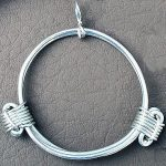 Sterling silver pendant in elephant hair knot style