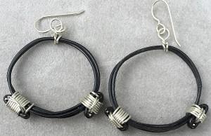Elephant hair knot earrings