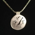 rock art bushmen gold pendant
