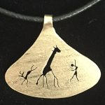 African gold figure pendant