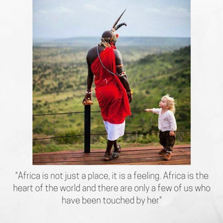 Africa is a feeling that has touched many people