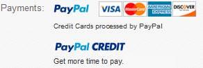 Paypal credit taken here