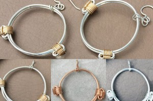 elephant hair knot earrings and pendants