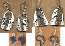 Safari Africa silver earrings