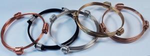 Silver gold copper elephant giraffe hair knot bracelets
