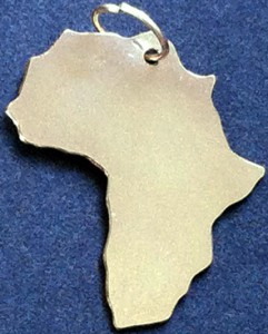 Gold Africa silhouette shape