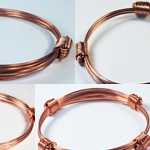 Collection of copper knot bracelets