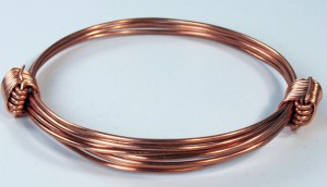 2 knot copper bracelet