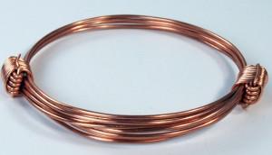 2 knot copper bracelet