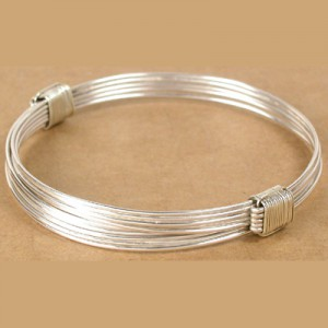 The big standard in silver elephant hair bracelets from Kenya