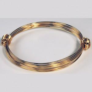 Lovely gold elephant hair knot bracelet