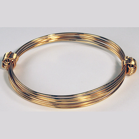 Lovely gold elephant hair knot bracelet