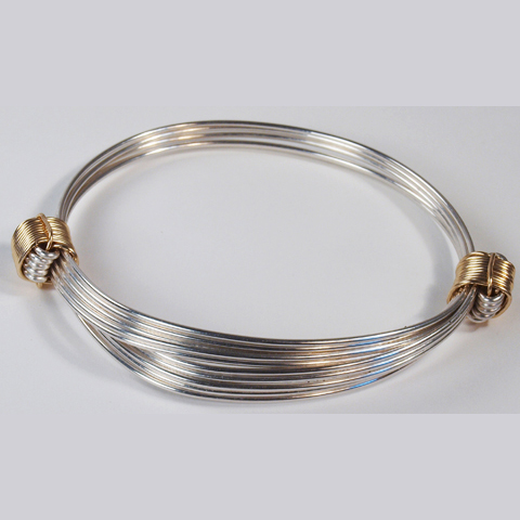 Gold Knot elephant hair bracelet