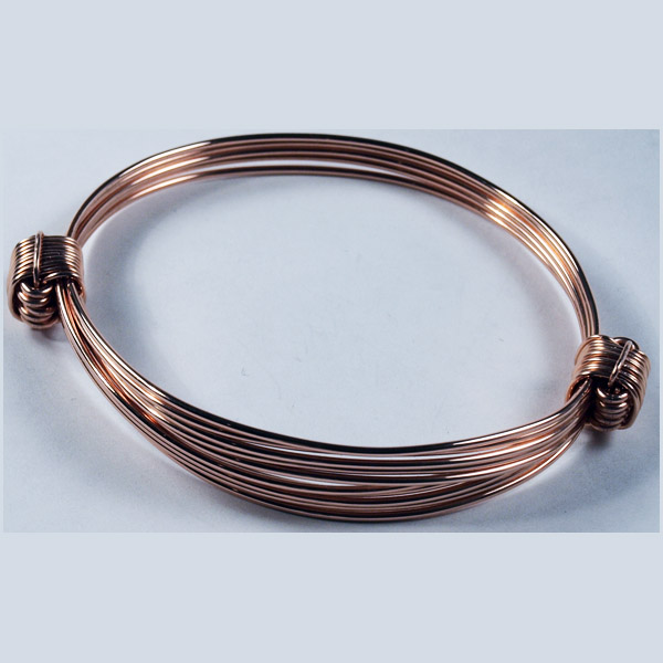 elephant hair knot bracelet in pink gold