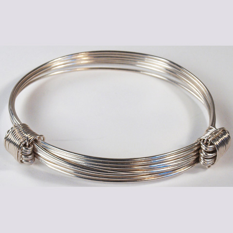 Extra big silver elephant hair bracelet