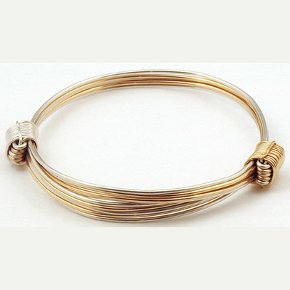 Silver And Gold Elephant Hair Bangle
