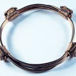 Pink gold 4 knot african bracelet