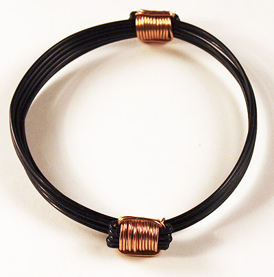 Elephant Hair Rose Gold Knot Bracelet