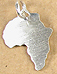 Africa shaped small pendant