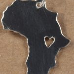 Small heart in Africa Pendant