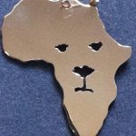 Africa silhouette with lion image