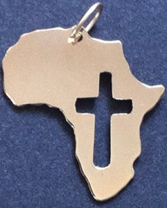Africa gold pendant with cross