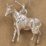 Zebra charm sterling silver