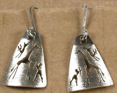 7740 triangle art earrings