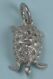Cute tortoise or turtle charm in sterling silver
