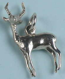 Sterling silver antelope charm