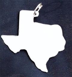 Texas shaped silver pendant