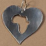 Africa is in my heart pendant.